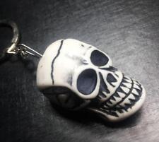 12pc Cool skull white Pirate skull head bone key-chains hs001
