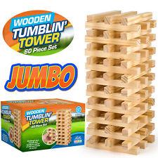 Giant Jumbo Jenga Tumbling Tumble Tower Wooden Blocks Outdoor Family Garden