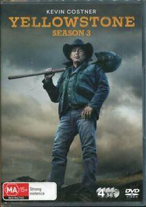 Yellowstone Series 3 Three DVD NEW Region 4 Kevin Costner
