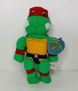 """Vintage Teenage Mutant Ninja Turtles TMNT Raphael w/Tag 9"""" Plush Toy 1989 by Ace"""