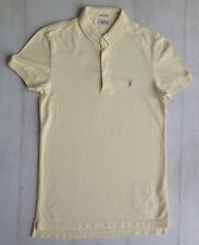 Mens, All Saints, yellow, collared, short sleeved top size SMALL