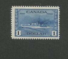 1942 Canada Tribal Class Destroyer Royal Navy 1Dollar Postage Stamp #262 CV $85