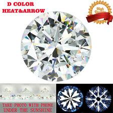 4 Carat 10mm D Color Loose Moissanite Hearts and Arrows Brilliant Round Cut VVS1