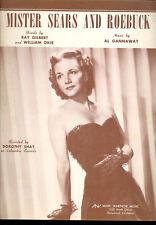 "DOROTHY SHAY Sheet Music ""Mister Sears And Roebuck"" 1949"