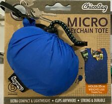 ChicoBag® Micro Reusable Shopping Bag Farmer market CHICO Bag Key Ring Carabiner
