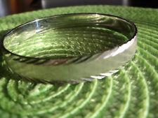 Monet Silver Plated Diamond Cut Bangle