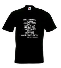 Stone Roses Lyrics T Shirt - Made Of Stone - I'm Standing Warm Against The Cold