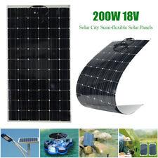 200W 18V Semi Flexible Solar Panel Battery Charging For Boat Caravan Motorhome
