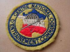 INSIGNE  tissus  centre national  entrainement commando  ancien    ref  A
