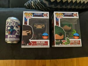 2020 NYCC Funko Pop Toy Tokyo He Man MOTU X3 Spikor Soda Sealed King Hiss Ninjor