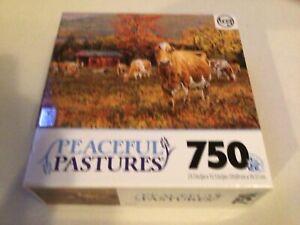 Peaceful Pastures Autumn's Gold 750 Piece Puzzle - Bonnie Mohr