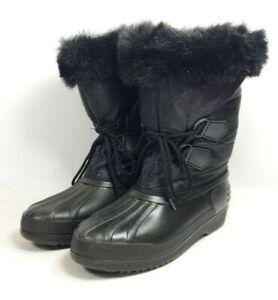 Winter Rubber Boots Nylon Shaft Fur Trim Women's Sz 9 (tu35ep)