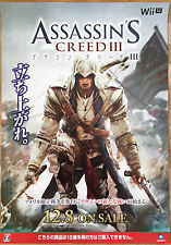 Assassins Creed 3 RARE Nintendo Wii U 51.5 cm x 73 cm Japanese Promo Poster
