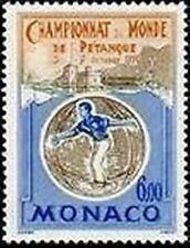 """MONACO STAMP N° 1742 """" CHAMPIONNAT MONDE PETANQUE , JOUEUR EN ACTION """"xxTTB"""