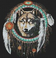 Wolf & The Dream Catcher Full Counted Cross Stitch Kit