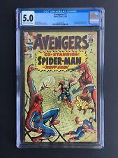 Avengers #11 CGC 5.0. 1964 Marvel Amazing Spider-man cover