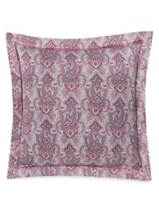 Anne De Solene Paisley 300 Thread Count Cotton Sateen Euro Pillow Sham Pink $105