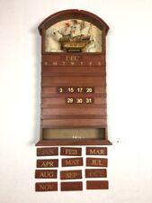 HERITAGE MINT Vintage Wooden Ship Santa Maria Calendar Perpetual Wood Tiles b8