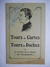 """Livre """"Tours de cartes Tours de poches"""" envoi de l'auteur"""