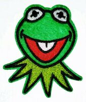 """Muppets kermit frog iron on fabric applique circle 2/"""" inch"""