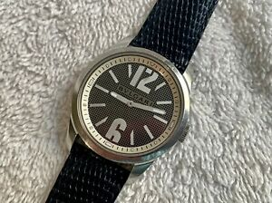 BVLGARI SOLOTEMPO Stainless Steel ST37S Sapphire Crystal Swiss Watch