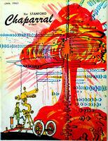 "Vintage THE STANFORD CHAPARRAL Magazine, ""Satire of Republican Digest"" Jan. 1960"