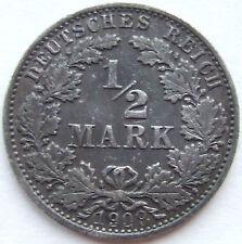 TOP! 1/2 Mark 1909 J in fast VORZÜGLICH !!!