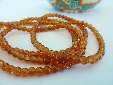 200 pce Brown Round Crackled Glass Beads 4mm Jewellery Making Craft