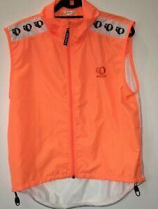 men's medium pearl izumi neon orange vest cycle FULL MESH BACK RARE 21-833