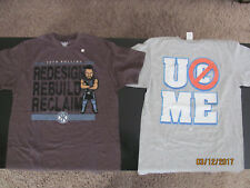 Lot of 2 WWE T-shirts John Cena & Seth Rollins Size M New without tags