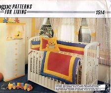 Vogue Patterns for Living 1514 Romantic & Rainbow Baby Nursery Items