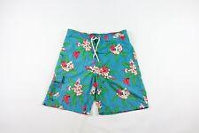 Vintage 90s Ralph Lauren Mens Large Floral Hawaiian Swim Trunks Shorts Polyester