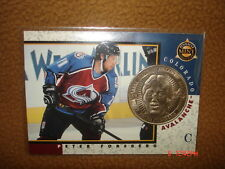 Peter Forsberg 1997-1998 Pinnacle Mint NICKEL COIN with Collectible Card