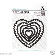 X Corte 5 Pc Nesting muere festoneado Corazones 22 a 105 mm Uso Con xcut, Big Shot Etc