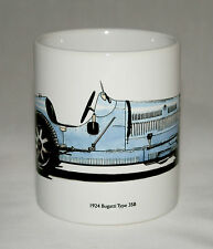 Classic Car Mug. 1924 Bugatti Type 35B hand drawn illustration.