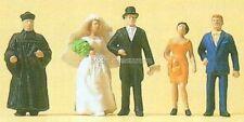 H0 Preiser 14057 Mariée et le marié, evang. geistlicher. emballage d'origine
