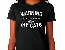 "Cat T Shirt suitable for  Javanese, Korat, Main Coon, Manx owners  ""WARNING"""