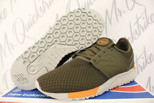 NEW BALANCE 247 SZ 12 RUNNING SHOE OLIVE GREEN ORANGE WINTER KNIT MRL247KO