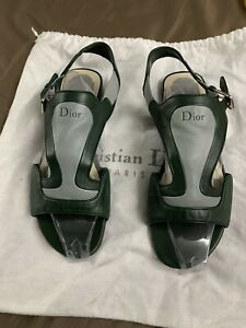 Dior Authentic Grey And Green Sandles 39