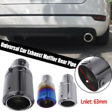 63mm 2.5'' Inlet Universal Modified Car Auto Rear Exhaust Muffler Tail Pipe Tip