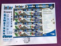 SAN MARINO 2010 FDC  INTER 3 VOLTE CAMPIONE FOGLIETTO