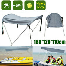 2 Bow 43-63'' Width Marine Bimini Boat Top Canopy Cover Support Poles Clip Shade