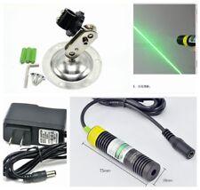 NEW 50mw 532nm Line Green Laser Diode Locator Module 18x75mm w k9 Glass Lens