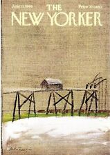 Fishermen on Pier Andre Francois art New Yorker Magazine June 11 1966 COVER ONLY