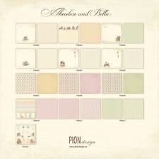 Pion Design Theodore & Bella Collection 12x12  Scrapbook Paper 13 sheets