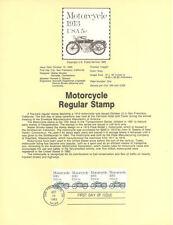 #8338 5c Motorcycle Coil Stamp - Scott #1899 USPS Souvenir Page