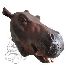 Latex tête complète afrique animal hippo hippopotam haute qualité fantaisie carnaval masques