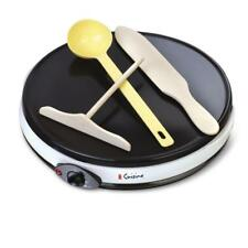 "Crepe Maker Black Adjustable Temperature Setting PFOA Free Specialty Grill 12"""