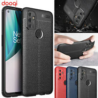 For OnePlus Nord N100 / N10 5G PU Leather Soft TPU Case+Tempered Glass Protector