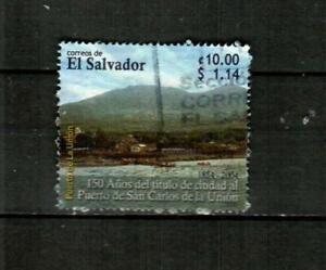 EL SALVADOR Scott's 1619 ( 1v ) Puerto de San Carlos F/VF Used ( 2005 ) #1
